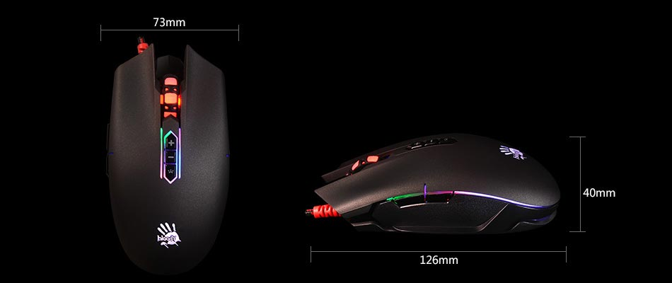 A4Tech Q80-Neon X'Glide Gaming Mouse
