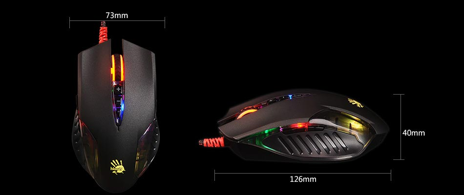 A4Tech Q50-Neon X'Glide Gaming Mouse