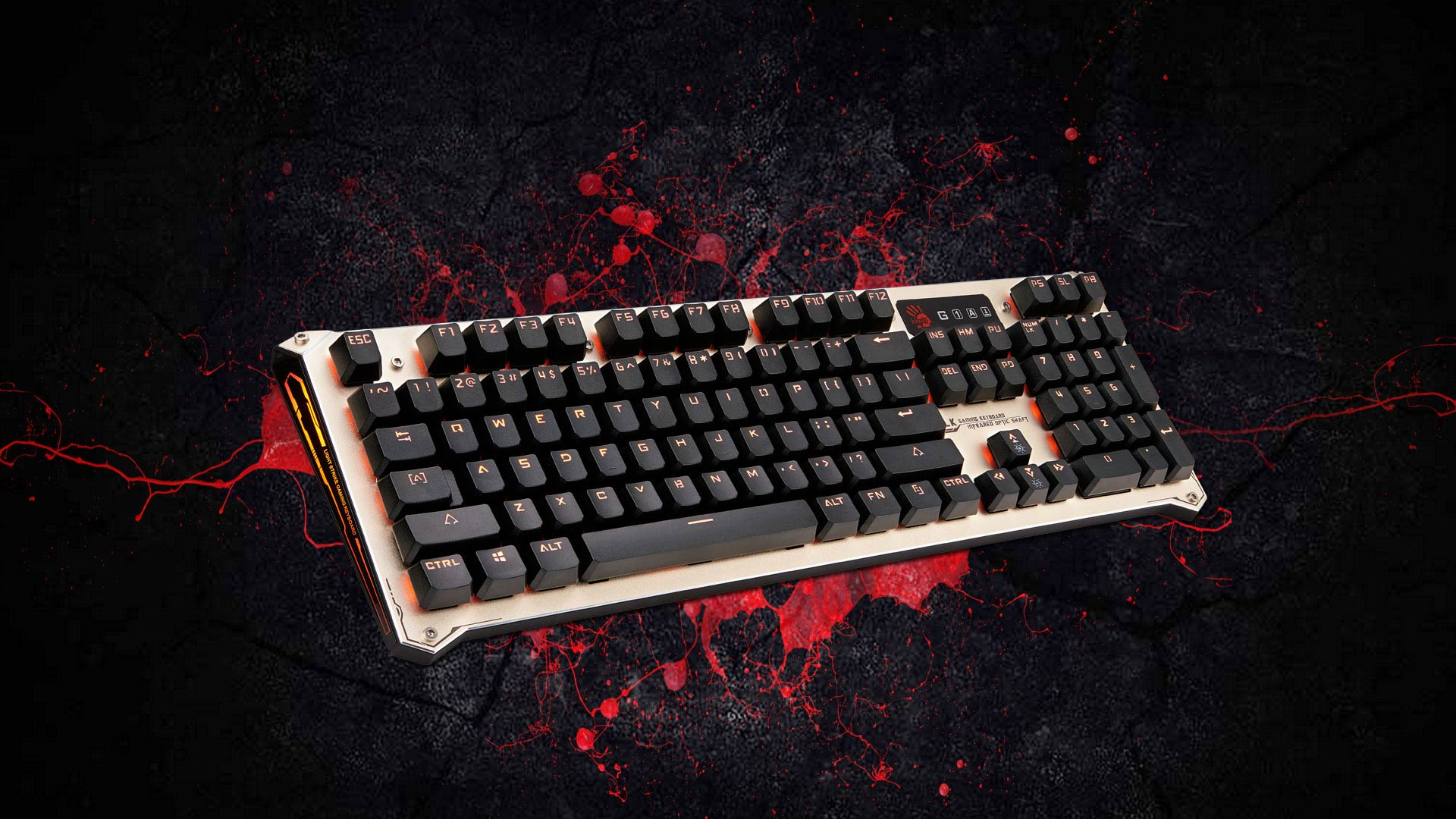 Bloody B840 Full Light Strike Mechanical Gaming Keyboard Corsair K66 Cherry Mx Red Black Color Worlds First Lightning Speed Switch Innovative Lk Optical Technology Uses Detection That Removes All Input Lag Which Is Able To