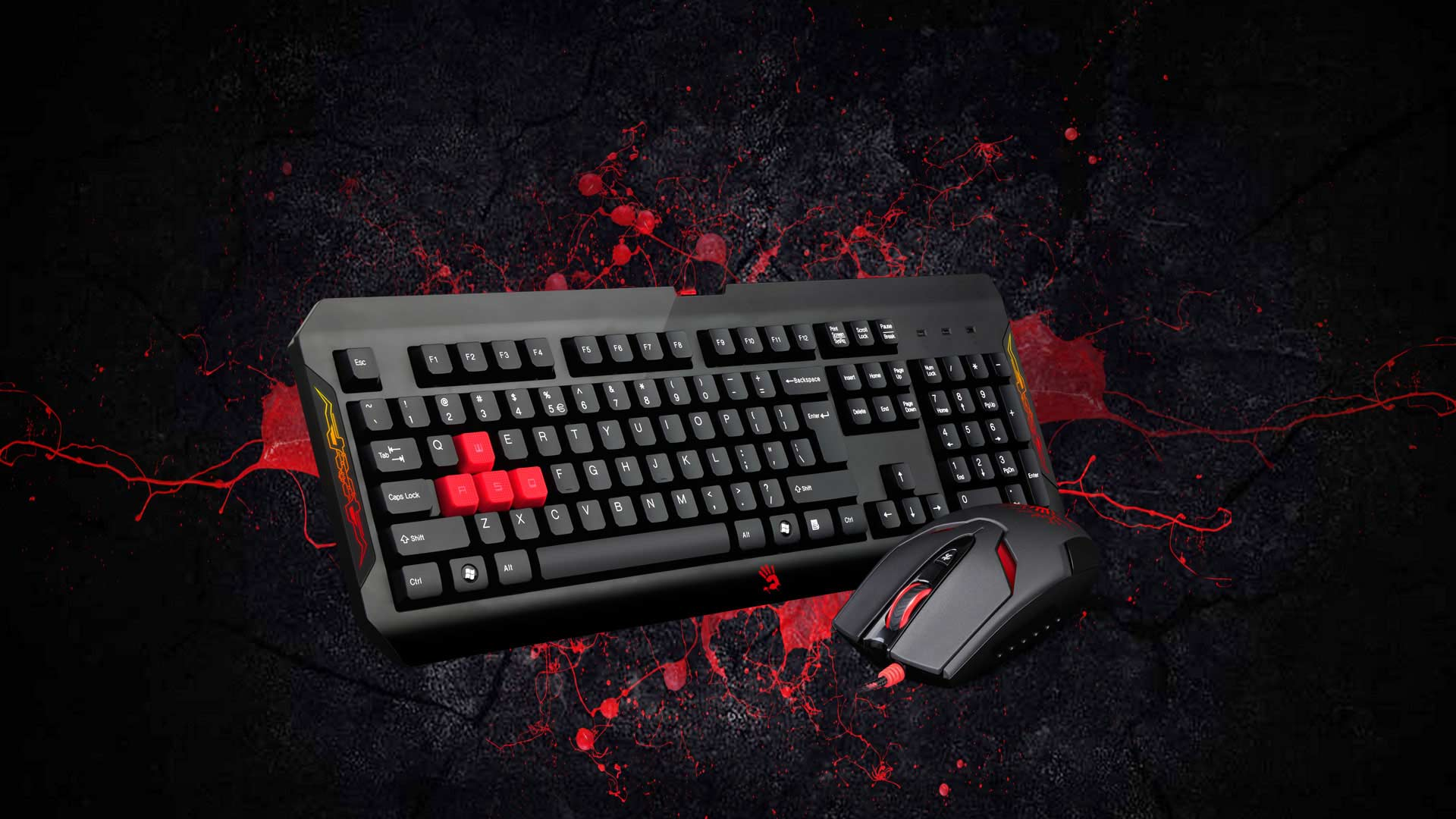 Bloody Q1100 Blazing Gaming Desktop Keyboard Mouse Usb Optical Logitech B100 Advanced Precision Gear Bloodys Ultimate Provide An Advance Technology Paired With Providing The Advantage To Conquer